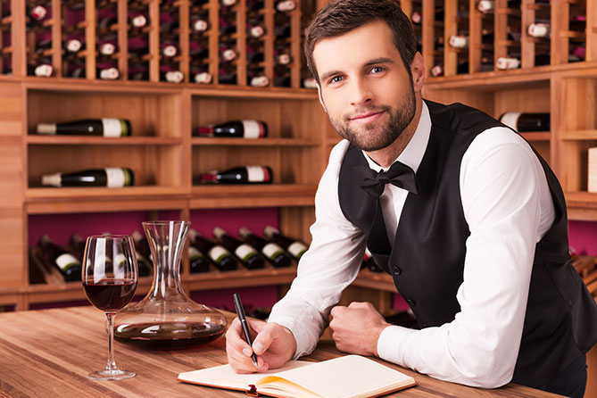 Sommelier at a hotel